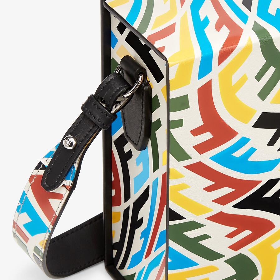 FENDI VERTICAL BOX - Multicolour FF Vertigo leather bag - view 5 detail