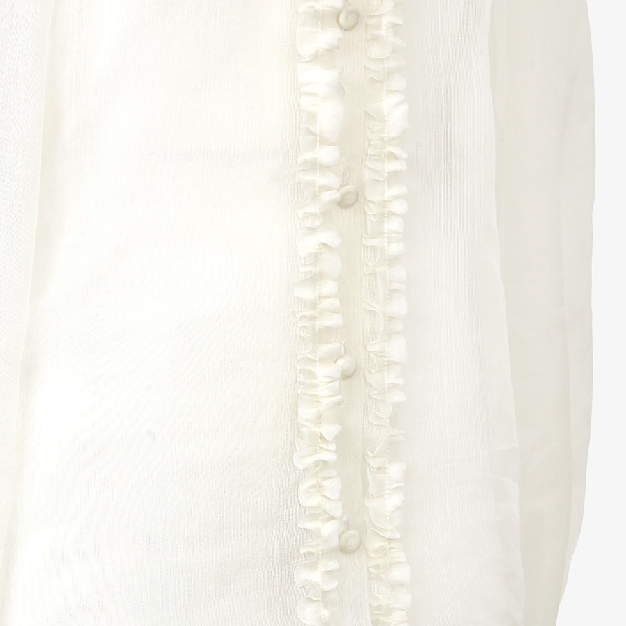 FENDI SHIRT - White silk shirt - view 3 detail