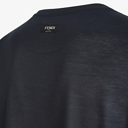 FENDI T-SHIRT - Black silk T-shirt - view 3 thumbnail