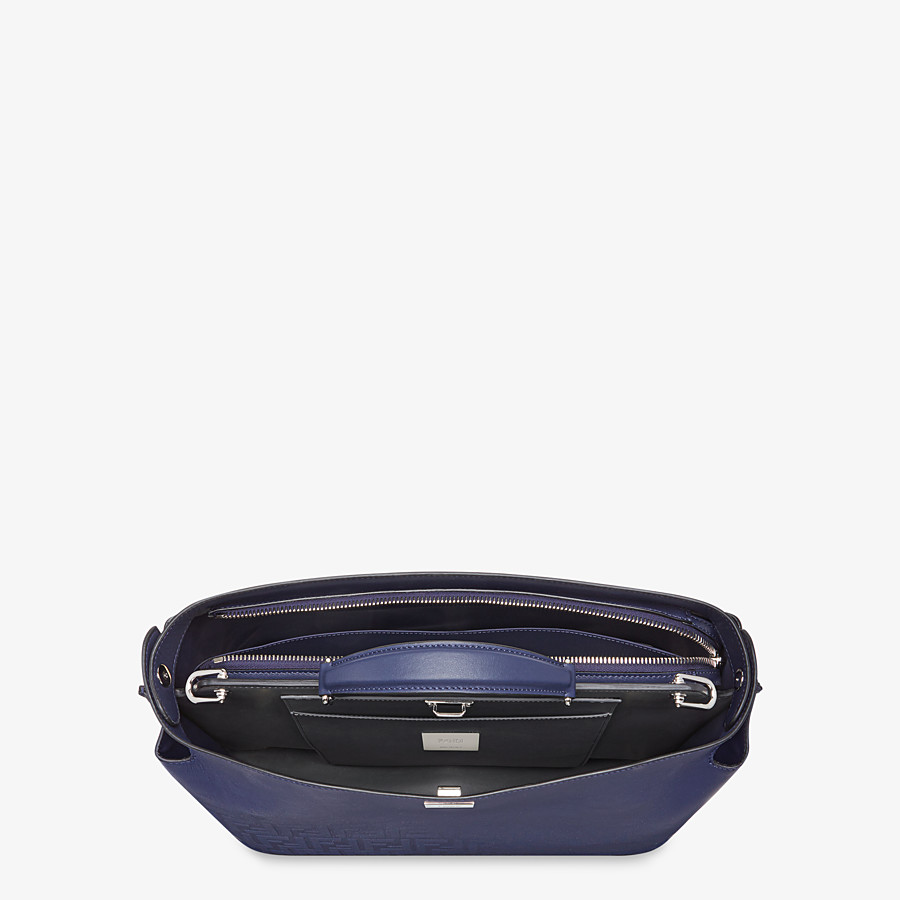 FENDI PEEKABOO ICONIC ESSENTIAL - Blue calf leather bag - view 4 detail
