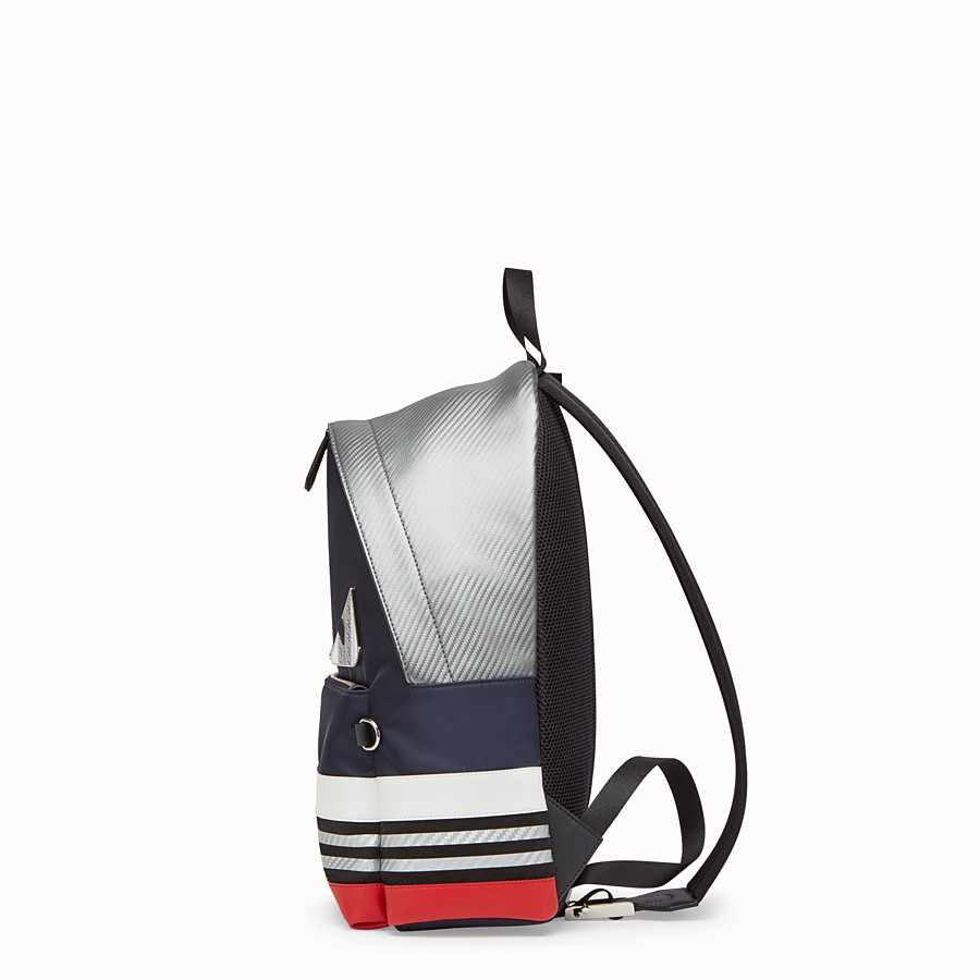 FENDI BACKPACK - Multicolored nylon and leather backpack - view 2 detail