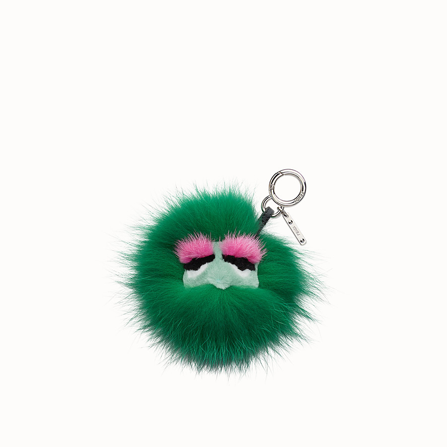 FENDI MINI EYE KEY CHARM - Charm in multicolour fox and mink fur - view 2 detail