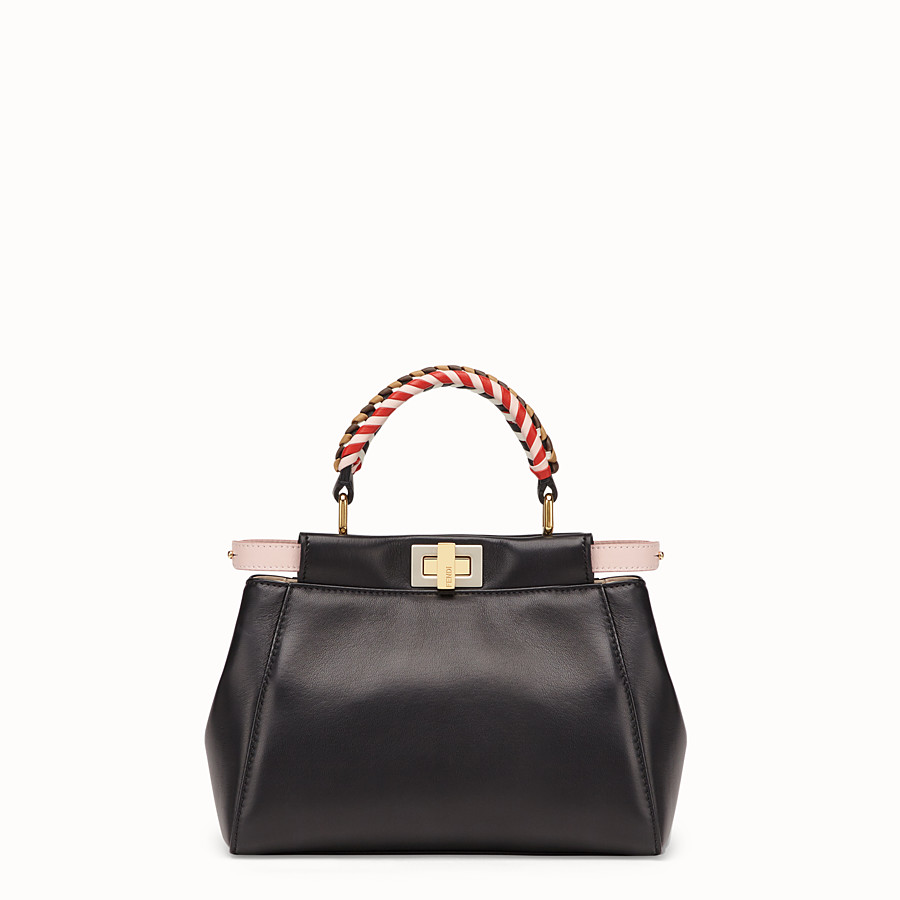 FENDI PEEKABOO MINI - Black nappa leather bag - view 1 detail