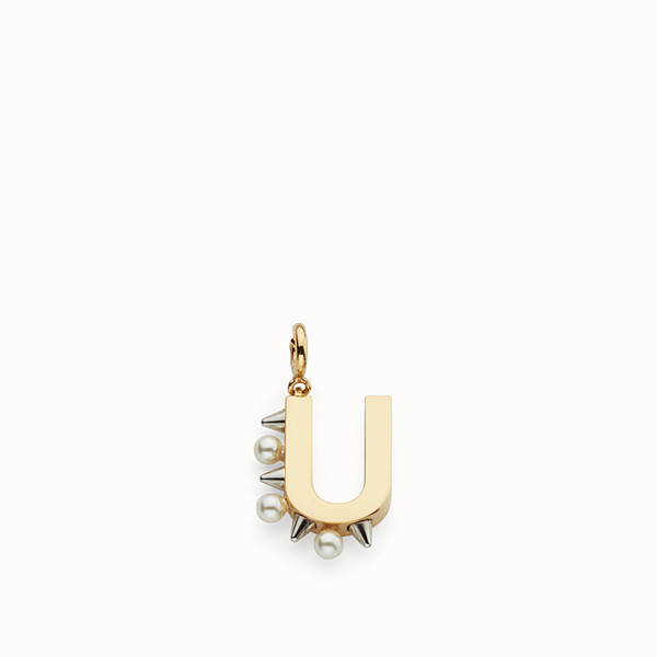 FENDI ABCHIC U - Charm with pearls and studs - view 1 small thumbnail