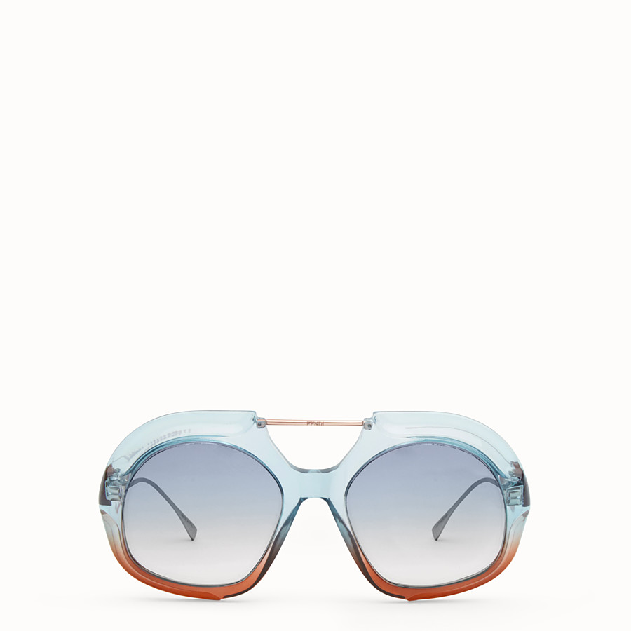 FENDI TROPICAL SHINE - Blue and brown sunglasses - view 1 detail