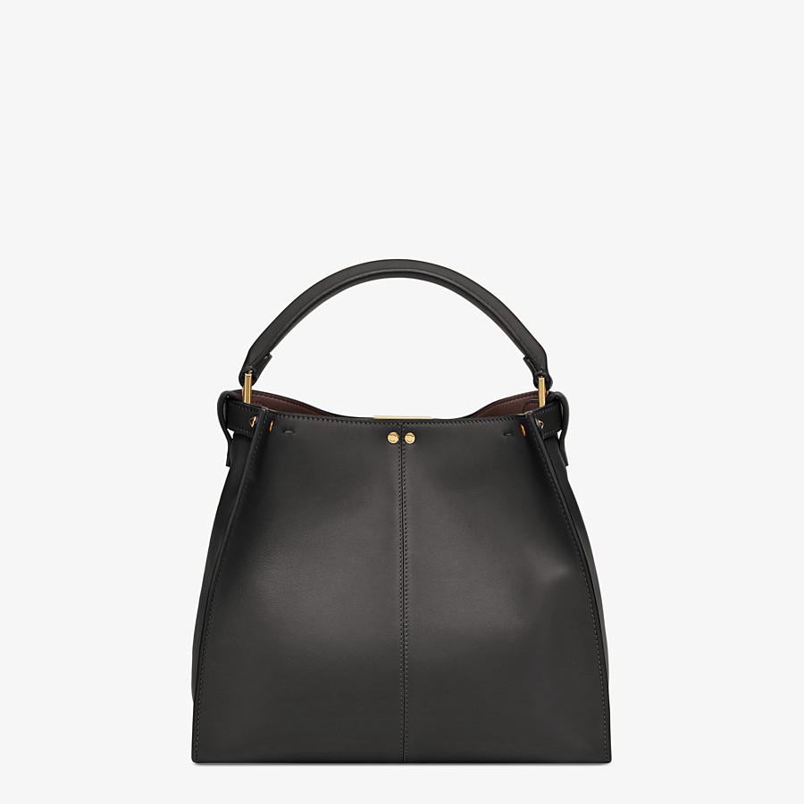 FENDI PEEKABOO X-LITE MEDIUM - Black leather bag - view 4 detail