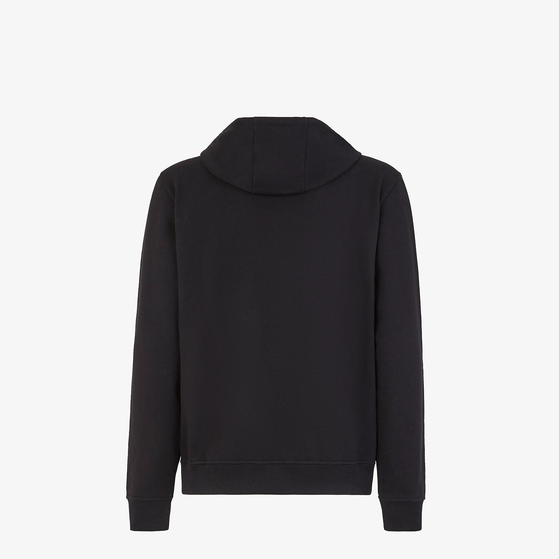 FENDI FELPA - Maglione in jersey nero - vista 2 dettaglio