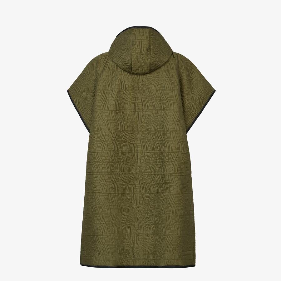 FENDI PONCHO - Green nylon poncho - view 2 detail