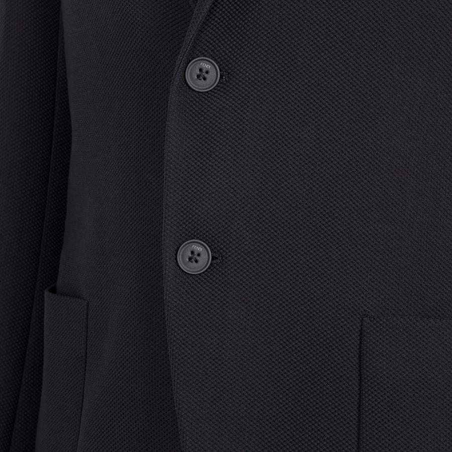 FENDI JACKET - Black cotton blazer - view 3 detail