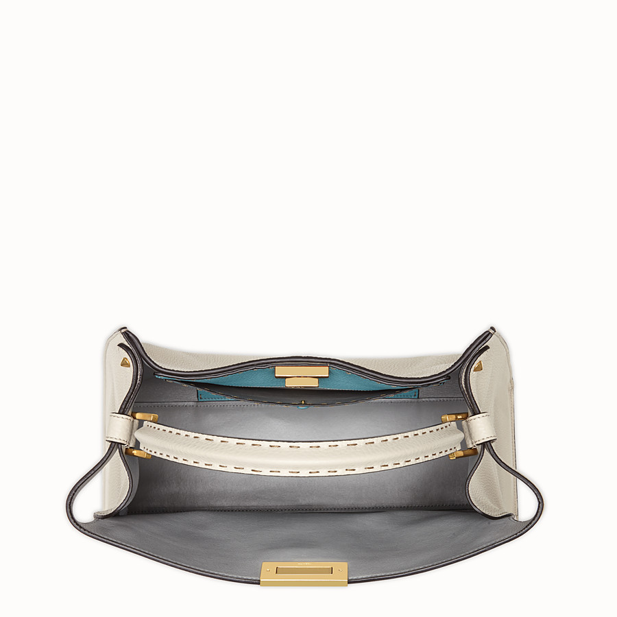 FENDI PEEKABOO X-LITE - Fendi Roma Amor leather bag - view 6 detail