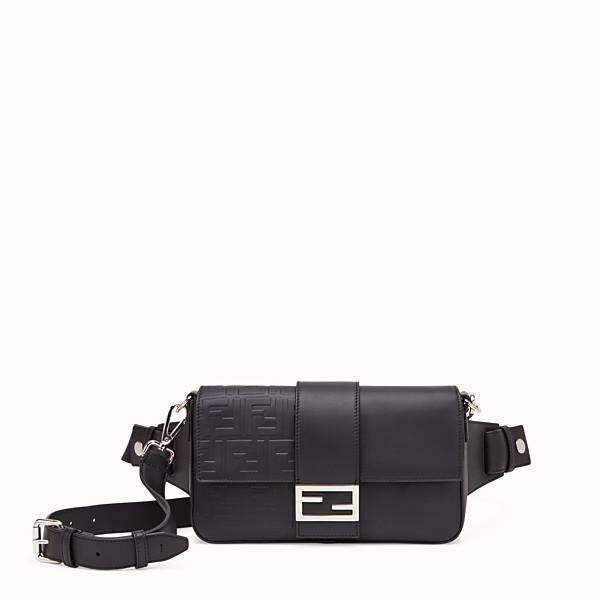 FENDI BAGUETTE - Black calfskin bag - view 1 small thumbnail