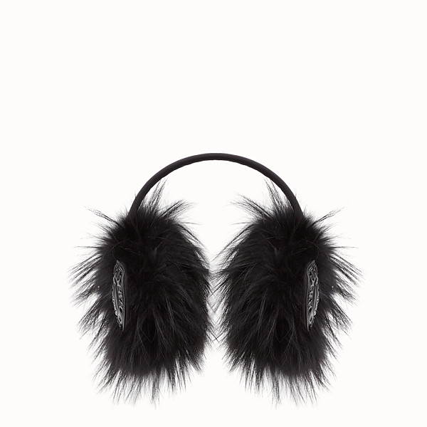 FENDI EARMUFFS - Black fur earmuffs - view 1 small thumbnail