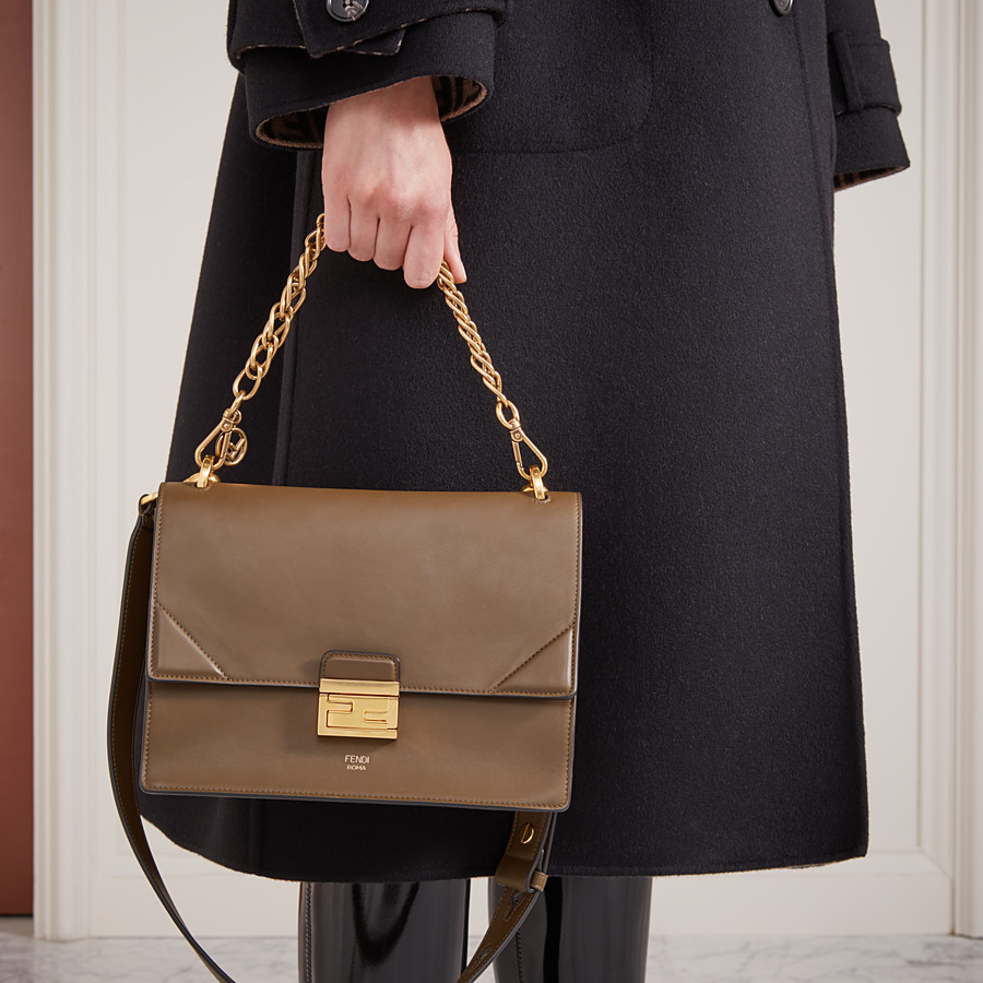 FENDI KAN U - Brown leather bag - view 2 detail