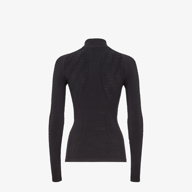 FENDI SWEATER - Seamless black sweater - view 2 detail