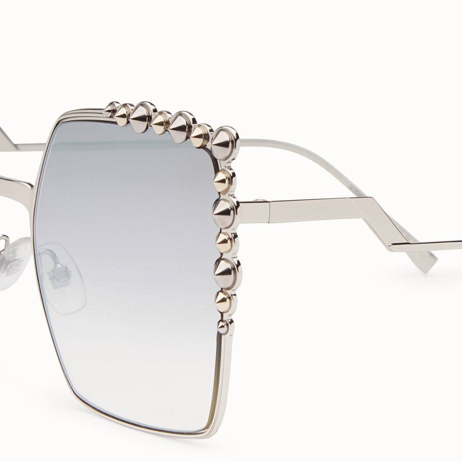 FENDI CAN EYE - Silver-colour sunglasses - view 3 detail