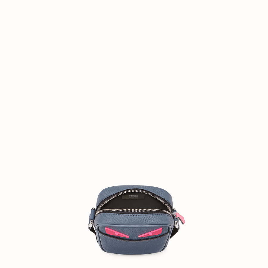 FENDI SMALL MESSENGER - Cross-body bag in gray Romano leather - view 4 detail