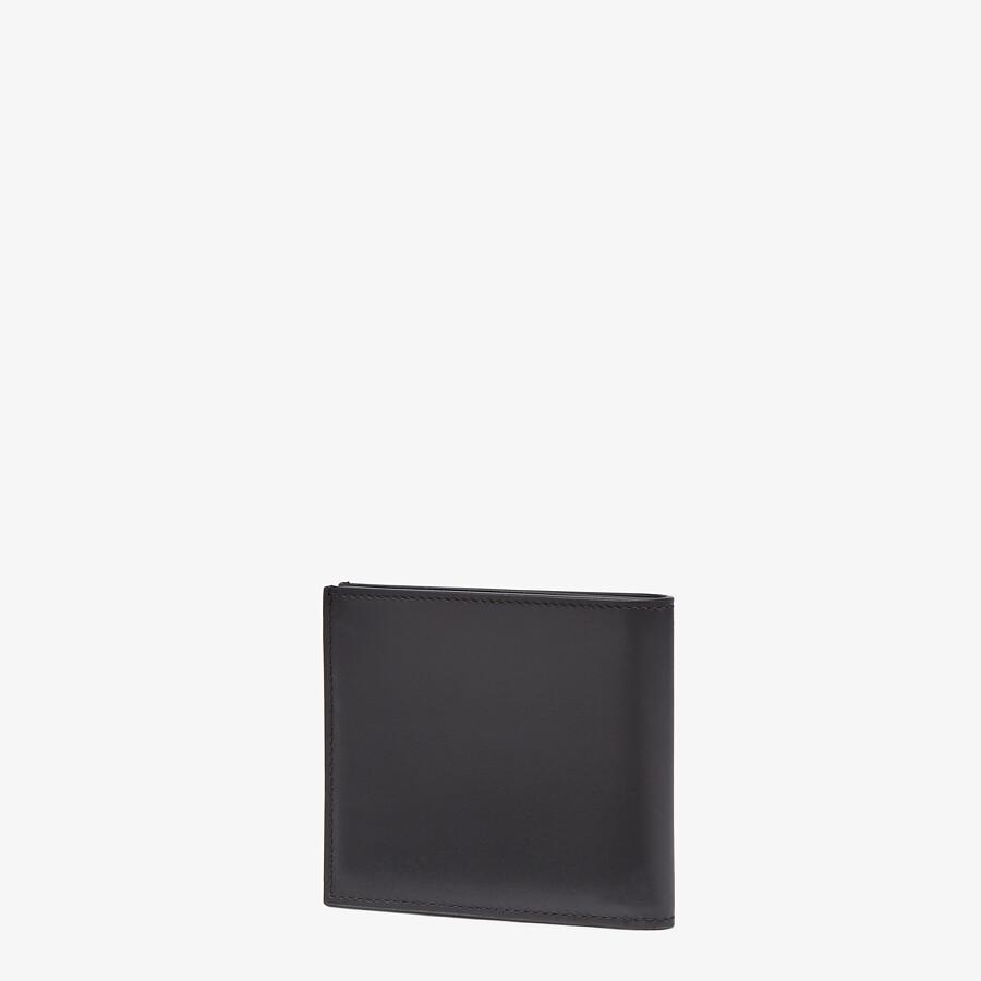 FENDI 皮夾 - 黑色皮革雙折皮夾 - view 2 detail