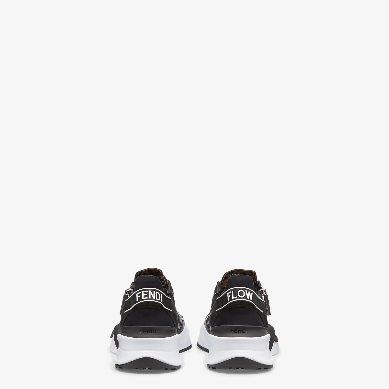 FENDI SNEAKERS - Black technical nylon low tops - view 3 detail