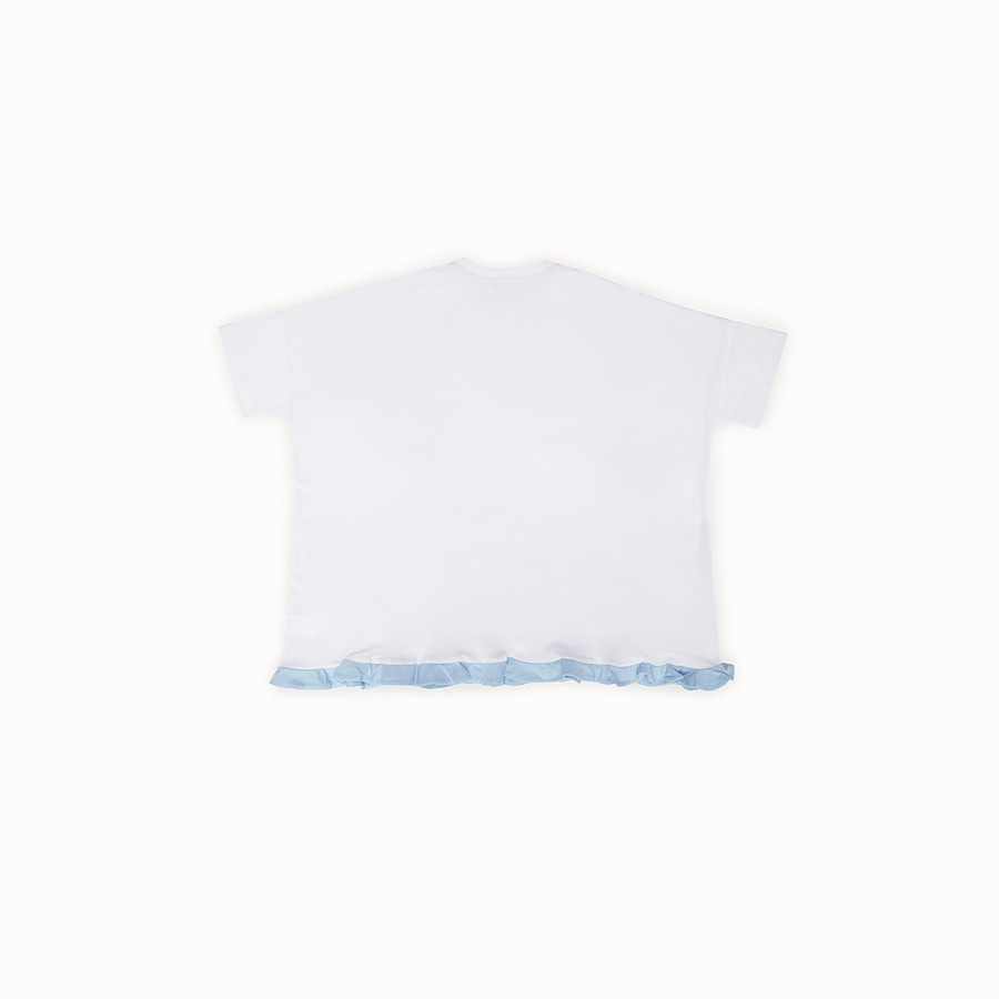FENDI T-SHIRT - White and multicolor jersey T-shirt - view 2 detail