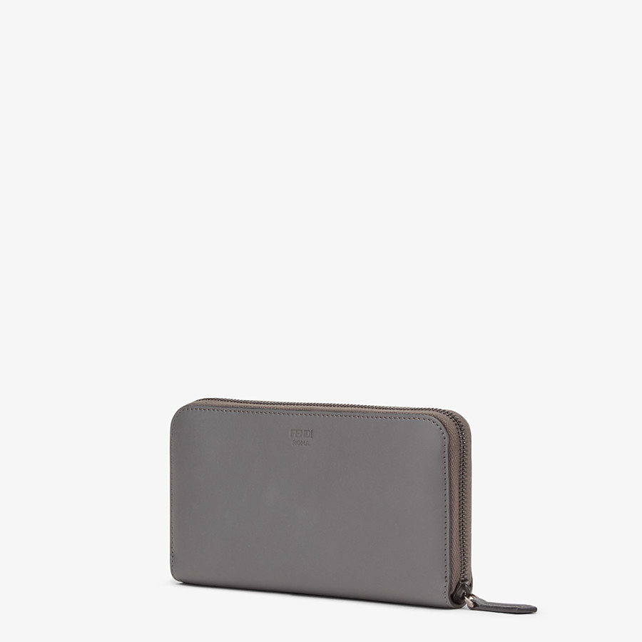 FENDI WALLET - Zip-around wallet in grey leather with insert - view 2 detail