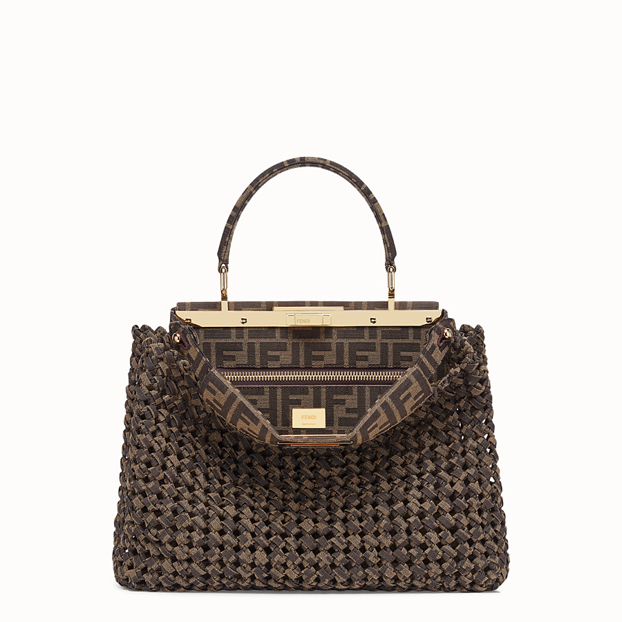 FENDI PEEKABOO ICONIC MEDIUM - FF jacquard interlace bag - view 1 detail