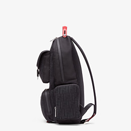 FENDI BACKPACK - Black tech fabric backpack - view 2 thumbnail