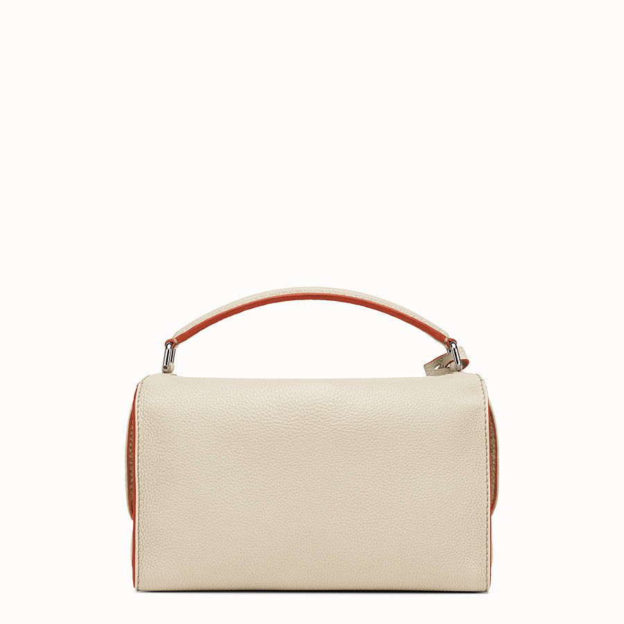FENDI LEI SELLERIA BAG - white Roman leather Boston bag - view 3 detail
