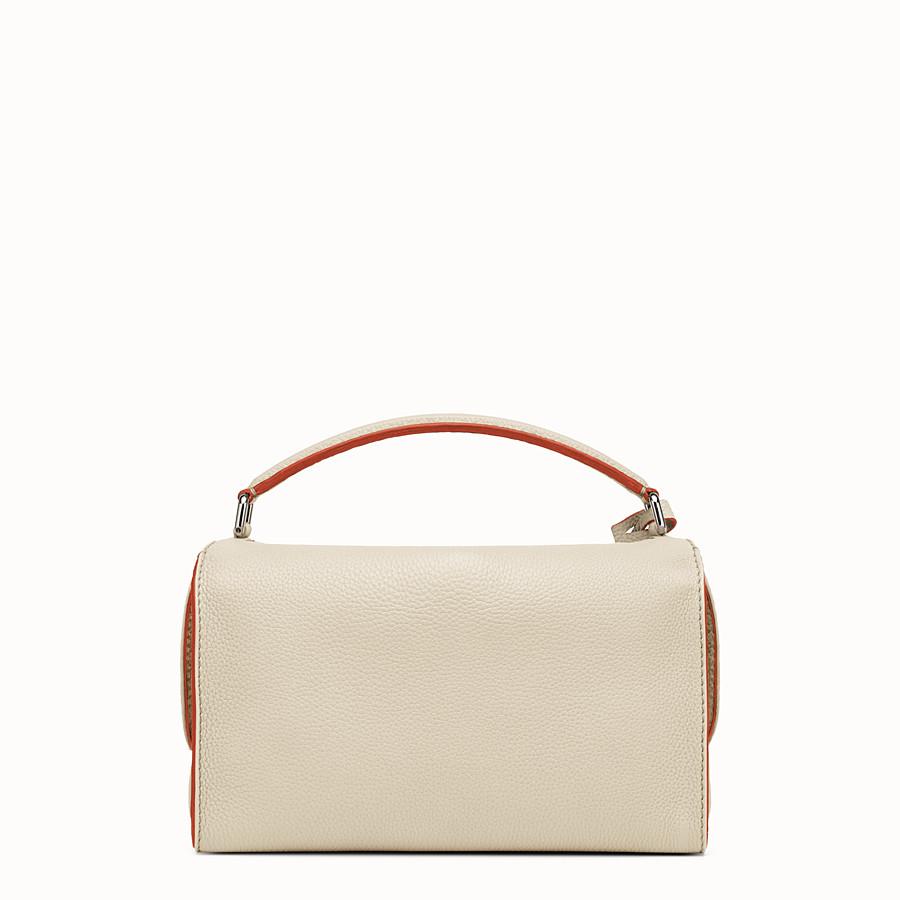 FENDI LEI SELLERIA BAG - white Roman leather Boston bag - view 3 detail