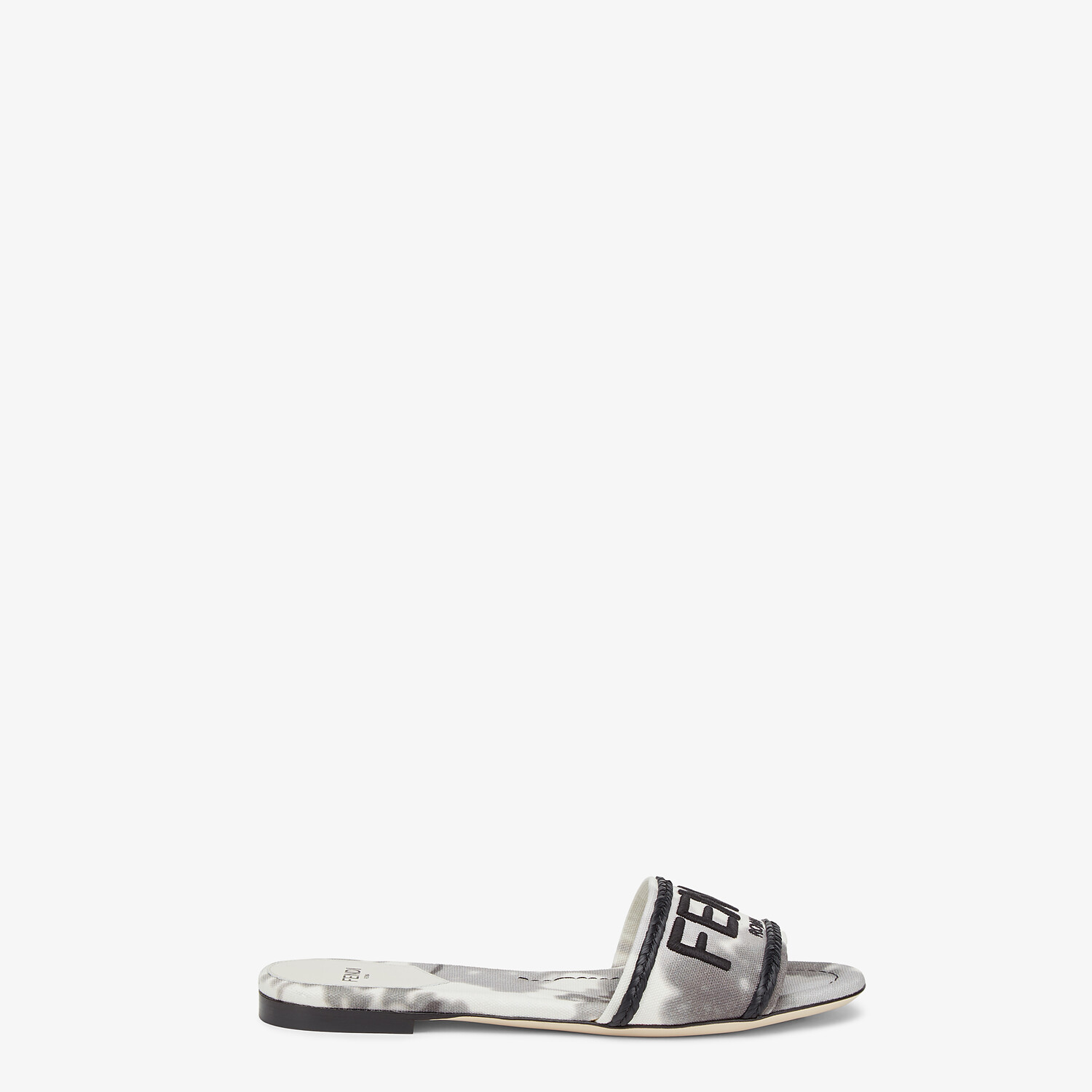 FENDI SIGNATURE SLIDES - Gray canvas slides - view 1 detail