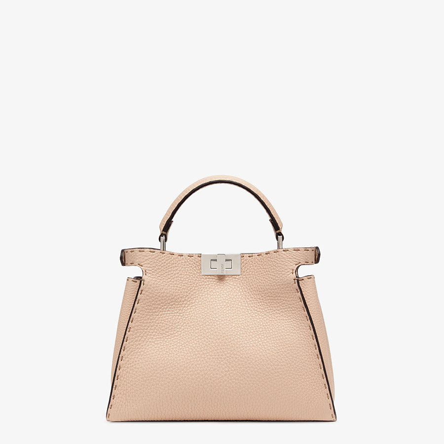 FENDI PEEKABOO ICONIC ESSENTIALLY - Pink leather bag - view 4 detail
