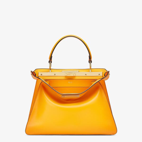 Orange leather bag