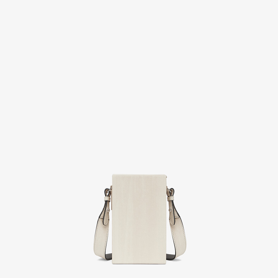 FENDI VERTICAL BOX - White leather bag - view 3 detail