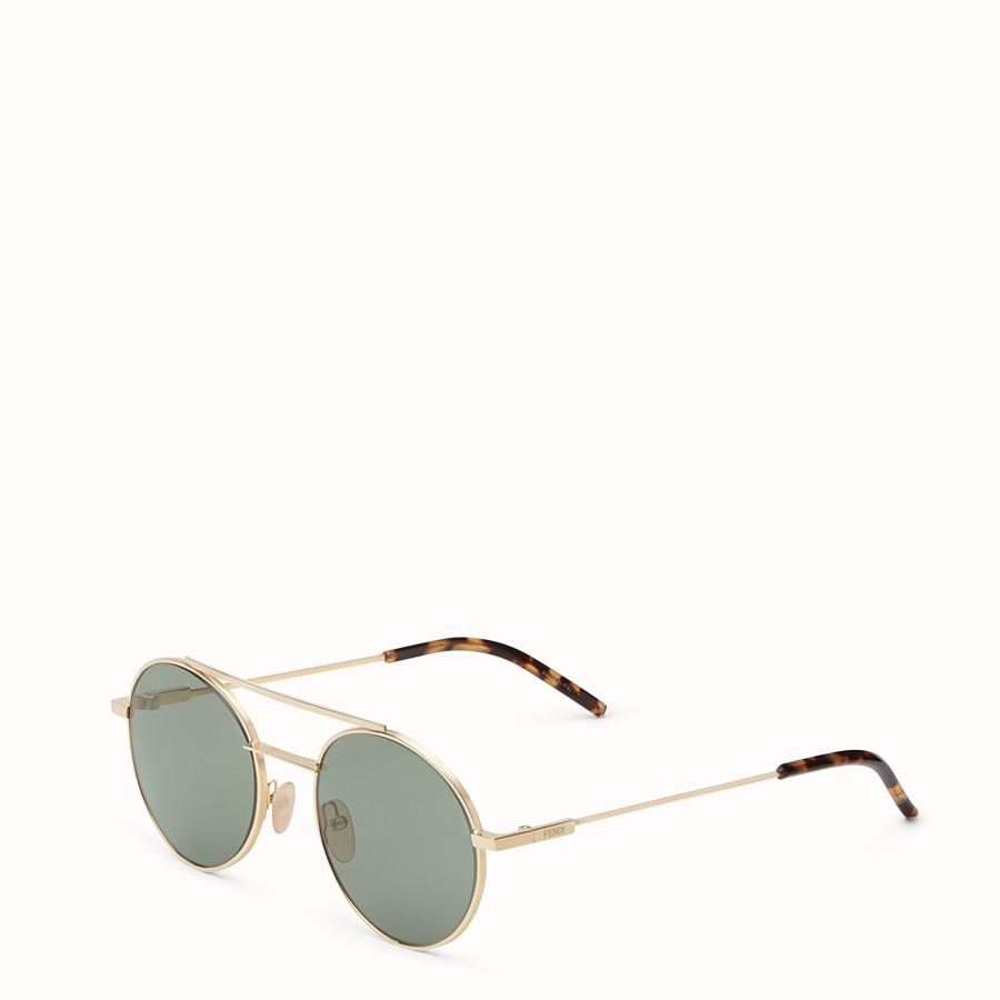 FENDI FENDI AIR - 金色鍍層飾面金屬太陽眼鏡 - view 2 detail