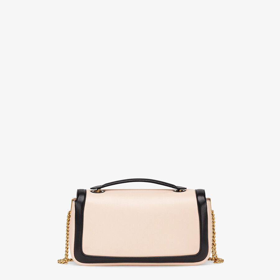 FENDI BAGUETTE CHAIN - Pink and black nappa leather bag - view 3 detail