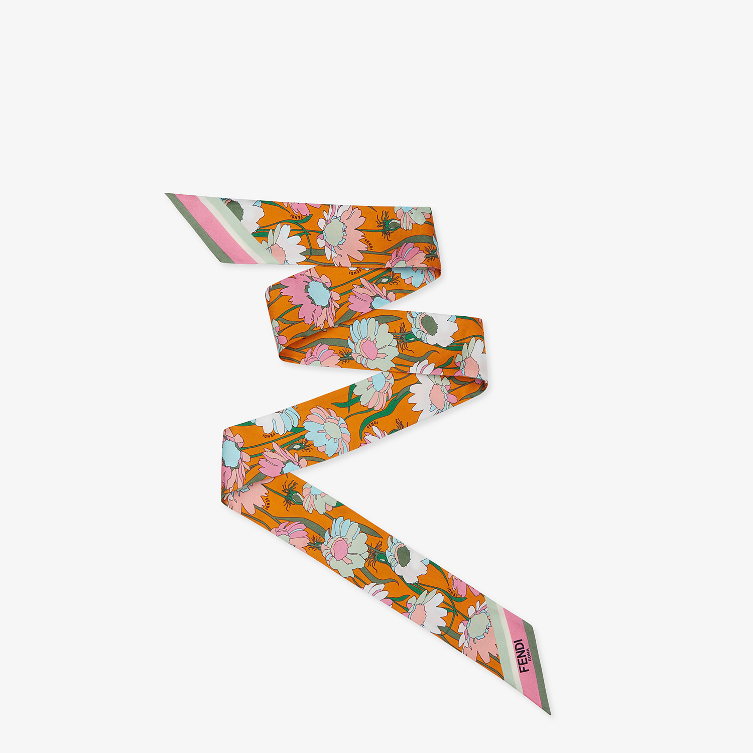 FENDI WRAPPY - Multicolor silk bandeau - view 1 detail