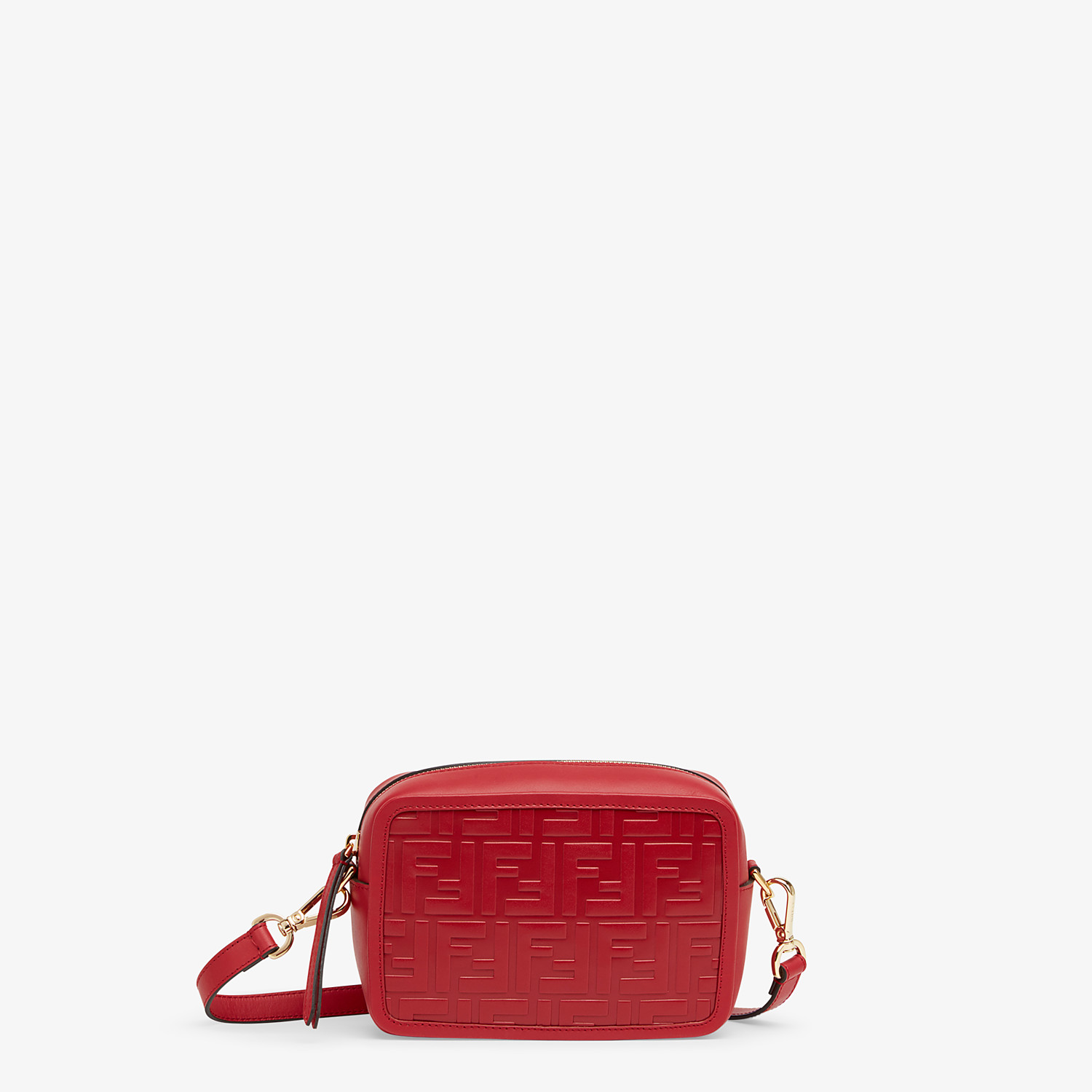 FENDI MINI CAMERA CASE - Red leather bag - view 1 detail