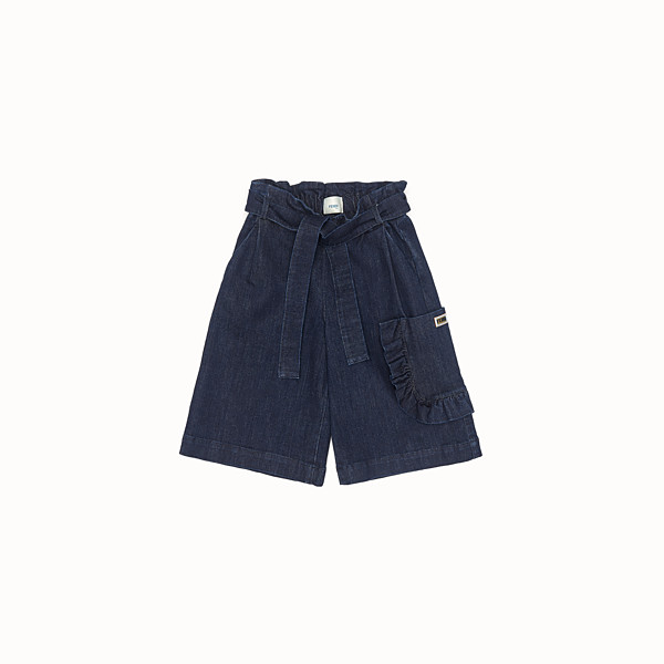 FENDI SHORTS - Blue denim Bermudas - view 1 small thumbnail