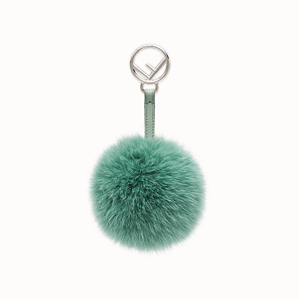 FENDI POM-POM CHARM - seafoam green fur - view 1 small thumbnail