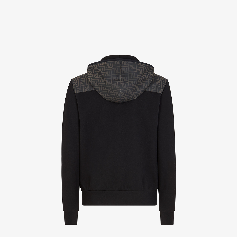 FENDI SWEATSHIRT - Black cotton jersey sweatshirt - view 2 detail