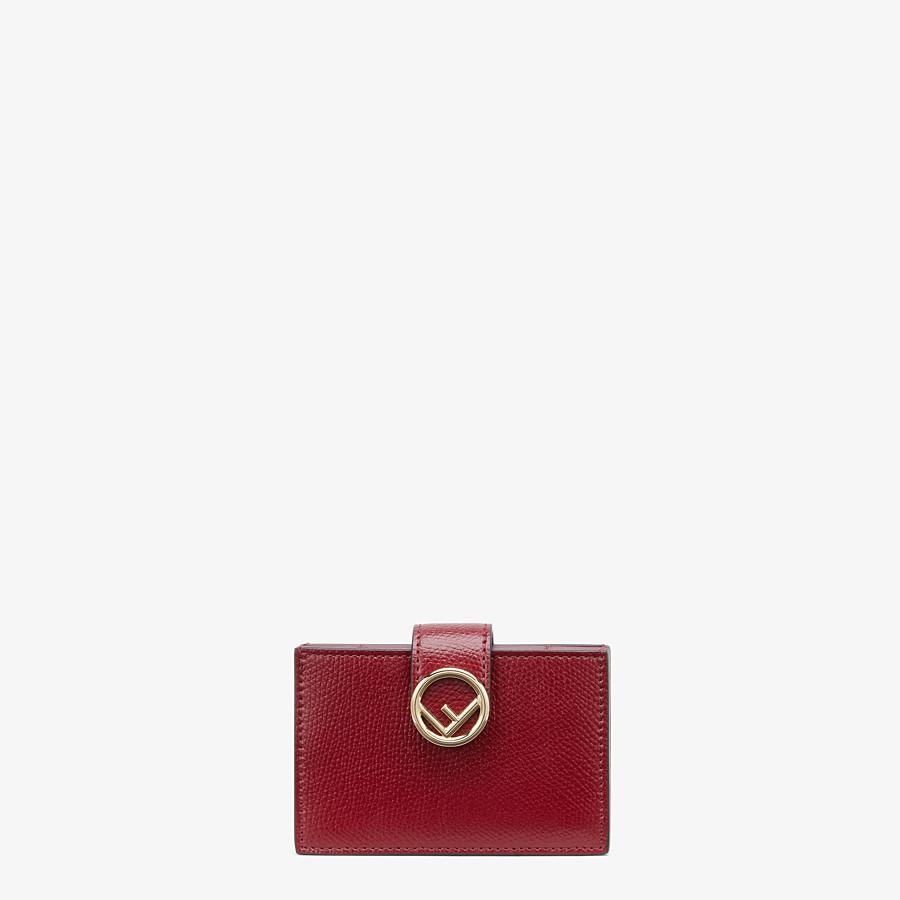 FENDI CARD HOLDER - Burgundy leather card holder - view 1 detail