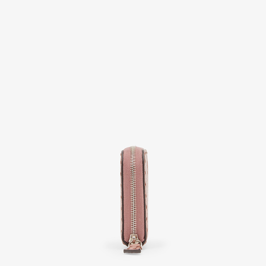 FENDI SMALL ZIP-AROUND - Pink leather wallet - view 3 detail