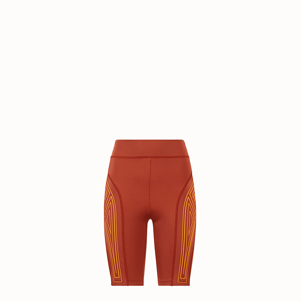 FENDI SHORT DE CYCLISTE - Short en lycra marron - view 1 small thumbnail