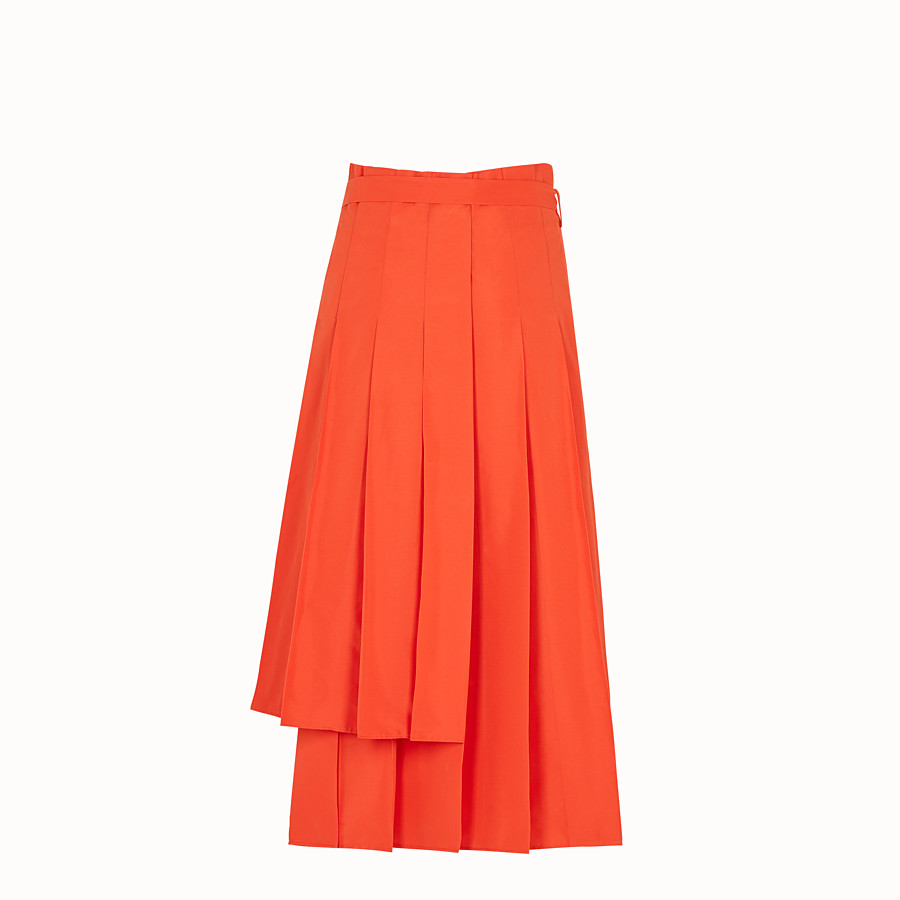 FENDI SKIRT - Orange faille skirt - view 2 detail