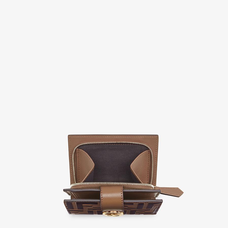 FENDI BIFOLD - Kompaktes Portemonnaie aus Leder in Braun - view 4 detail