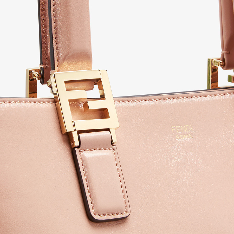 FENDI FF TOTE SMALL - Tasche aus Leder in Rosa - view 5 detail
