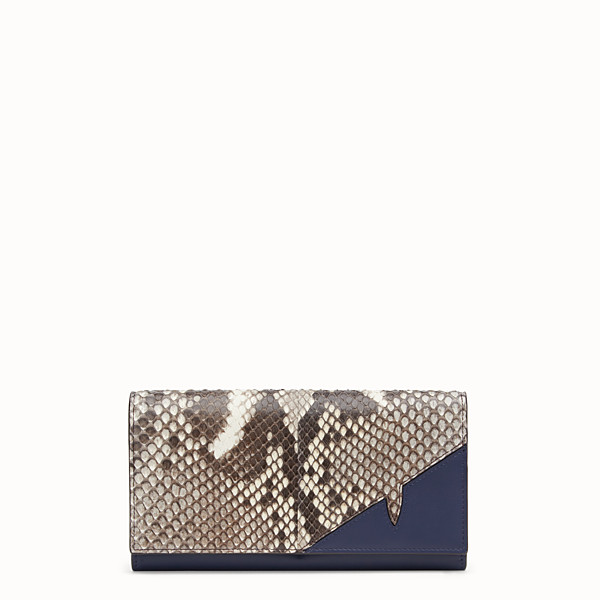 FENDI CONTINENTAL - White python wallet - view 1 small thumbnail