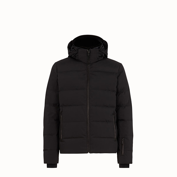 FENDI SKI JACKET - Black nylon down jacket - view 1 small thumbnail