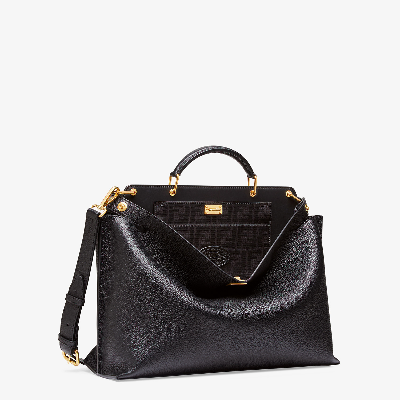FENDI PEEKABOO ICONIC ESSENTIAL - Black leather bag - view 2 detail