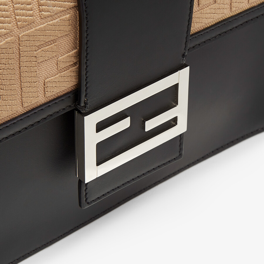 FENDI FLAT BAGUETTE - Black leather bag - view 5 detail