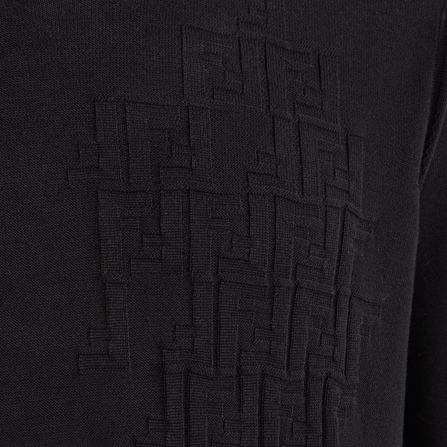 FENDI PULLOVER - Black cotton jumper - view 3 detail
